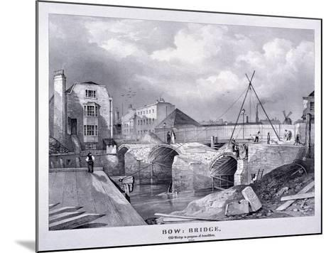 Bow Bridge, Bow, Poplar, London, 1835--Mounted Giclee Print
