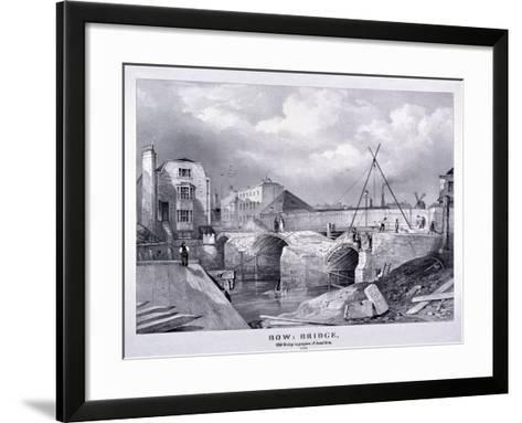 Bow Bridge, Bow, Poplar, London, 1835--Framed Art Print