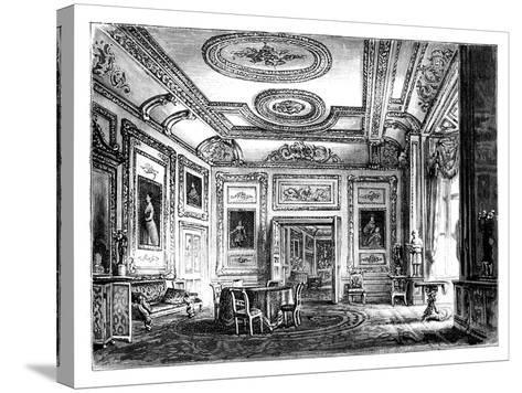 Thw White Drawing Room, Windsor Castle, C1888--Stretched Canvas Print