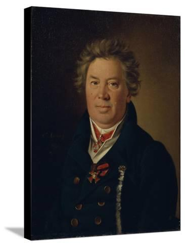 Portrait of the Architect Fyodor Kirillovich Sokolov (1752-182), 1819-Nikolai Ivanovich Argunov-Stretched Canvas Print