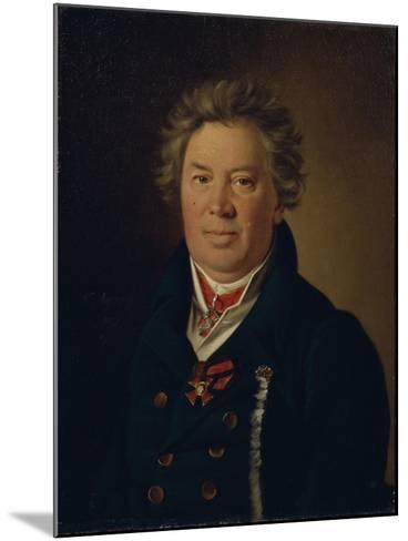 Portrait of the Architect Fyodor Kirillovich Sokolov (1752-182), 1819-Nikolai Ivanovich Argunov-Mounted Giclee Print