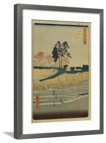 Palace Hill in Shinagawa (One Hundred Famous Views of Ed), 1856-1858-Utagawa Hiroshige-Framed Art Print