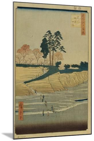 Palace Hill in Shinagawa (One Hundred Famous Views of Ed), 1856-1858-Utagawa Hiroshige-Mounted Giclee Print