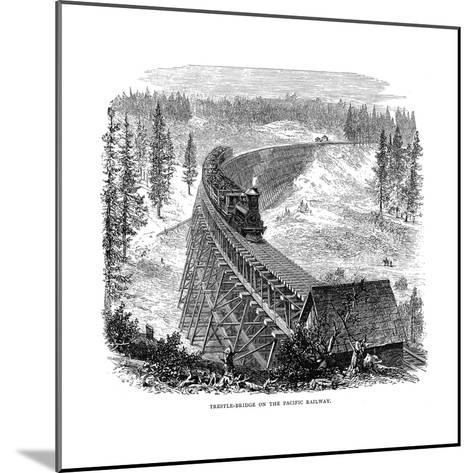 Trestle Bridge on the Union Pacific Railroad, USA, 1876--Mounted Giclee Print