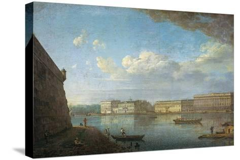 Palace Embankment as Seen from the Peter and Paul Fortress, 1794-Fyodor Yakovlevich Alexeyev-Stretched Canvas Print