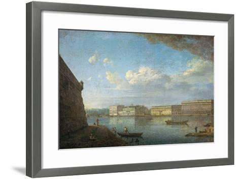 Palace Embankment as Seen from the Peter and Paul Fortress, 1794-Fyodor Yakovlevich Alexeyev-Framed Art Print
