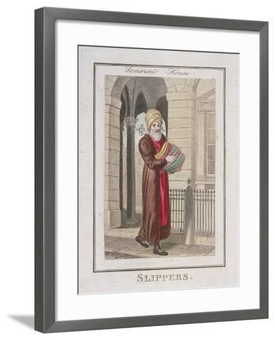 Slippers, Cries of London, 1804-William Marshall Craig-Framed Art Print