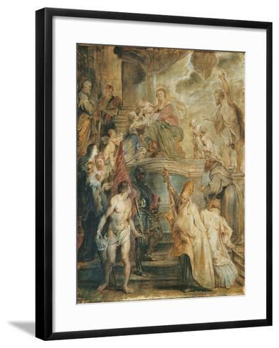 The Mystical Marriage of Saint Catherine-Peter Paul Rubens-Framed Art Print
