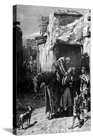 St Louis, King of France, Seeking Refuge from the Saracens-Edouard Zier-Stretched Canvas Print