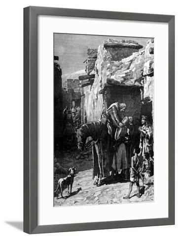 St Louis, King of France, Seeking Refuge from the Saracens-Edouard Zier-Framed Art Print