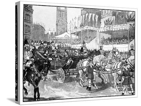 Queen Victoria Opening Holborn Viaduct, London, 1869--Stretched Canvas Print