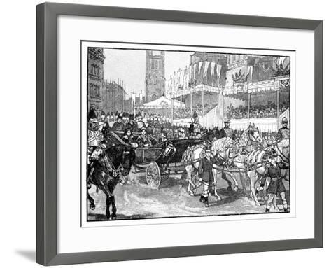 Queen Victoria Opening Holborn Viaduct, London, 1869--Framed Art Print