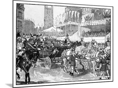 Queen Victoria Opening Holborn Viaduct, London, 1869--Mounted Giclee Print