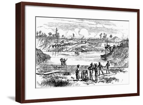 Scene from the De Lesseps Attempt to Dig the Panama Canal, 1888--Framed Art Print
