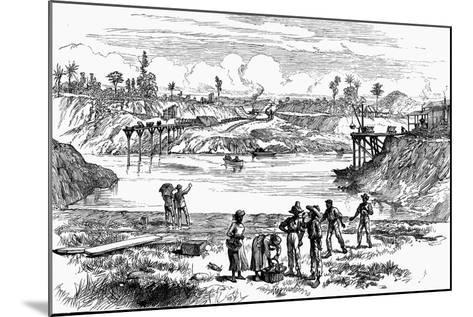 Scene from the De Lesseps Attempt to Dig the Panama Canal, 1888--Mounted Giclee Print