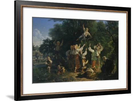 Cherry Harvest in a Landowner's Fruit Garden in the Ukraine, 1858-Ivan Ivanovich Sokolov-Framed Art Print
