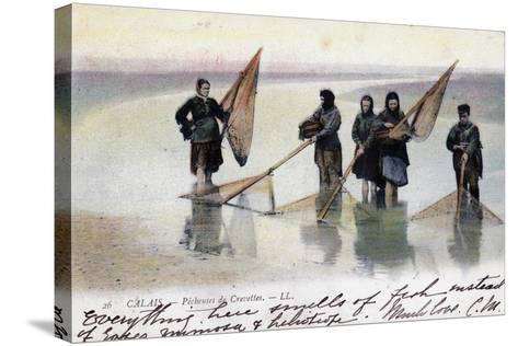 Women Shrimp Fishers, Calais, 1905--Stretched Canvas Print