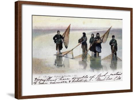Women Shrimp Fishers, Calais, 1905--Framed Art Print