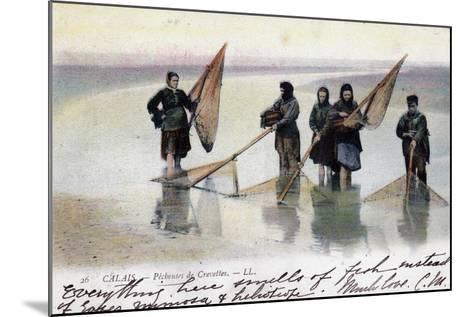 Women Shrimp Fishers, Calais, 1905--Mounted Giclee Print