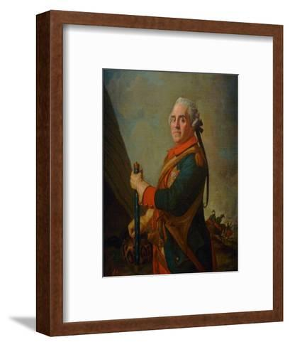 Portrait of Maurice De Saxe, Marshal of France, 18th Century-Jean-?tienne Liotard-Framed Art Print