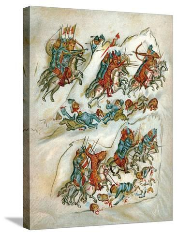 Russians Routing Bulgarians in a Cavalry Skirmish--Stretched Canvas Print
