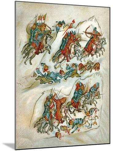 Russians Routing Bulgarians in a Cavalry Skirmish--Mounted Giclee Print