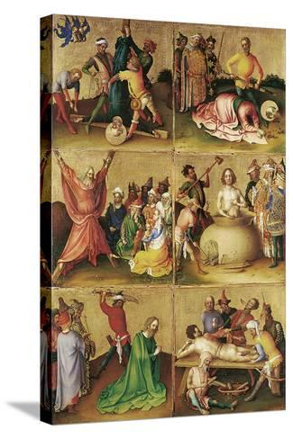 Martyrdom of the Apostles. Left Panel-Stephan Lochner-Stretched Canvas Print