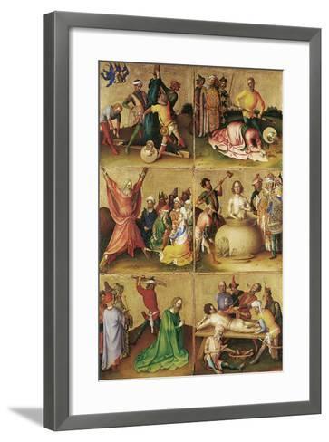 Martyrdom of the Apostles. Left Panel-Stephan Lochner-Framed Art Print