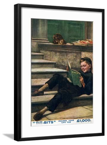 Advertisment for 'Tit-Bits' Magazine, 20th Century--Framed Art Print