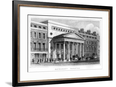 Haymarket Theatre, Westminster, London, 19th Century--Framed Art Print