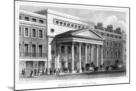 Haymarket Theatre, Westminster, London, 19th Century--Mounted Giclee Print