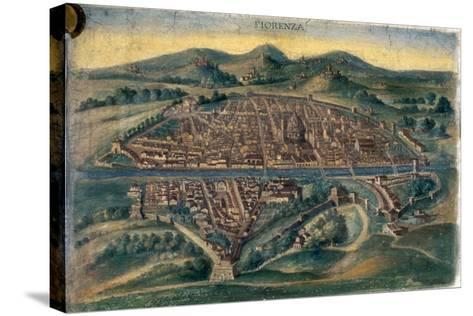 Map of Florence, 15th Century--Stretched Canvas Print