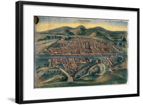 Map of Florence, 15th Century--Framed Art Print