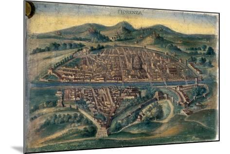 Map of Florence, 15th Century--Mounted Giclee Print