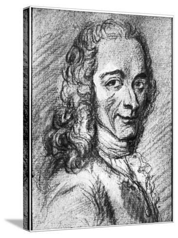 Voltaire, French Enlightenment Writer, Essayist, Deist and Philosopher, 18th Century--Stretched Canvas Print