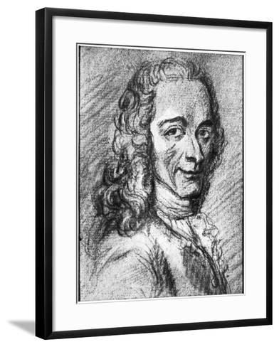 Voltaire, French Enlightenment Writer, Essayist, Deist and Philosopher, 18th Century--Framed Art Print
