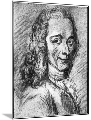 Voltaire, French Enlightenment Writer, Essayist, Deist and Philosopher, 18th Century--Mounted Giclee Print