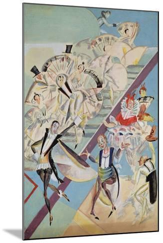 Stage Design for the Operetta Girofle-Giroflia by Ch. Lecocq, 1922-Georgi Bogdanovich Yakulov-Mounted Giclee Print