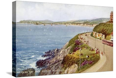 Douglas Bay from Onchan Head, Isle of Man, C1930S-C1940S-Valentine & Sons-Stretched Canvas Print