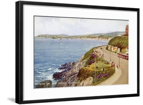Douglas Bay from Onchan Head, Isle of Man, C1930S-C1940S-Valentine & Sons-Framed Art Print