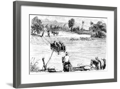 Crossing the Isabella, Santo Domingo, 1873--Framed Art Print