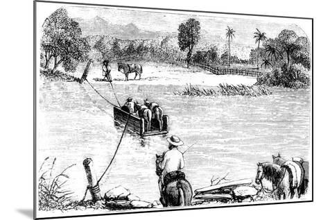 Crossing the Isabella, Santo Domingo, 1873--Mounted Giclee Print