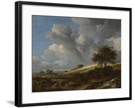 A Cornfield with the Zuiderzee in the Background, C. 1660-Jacob Isaacksz Van Ruisdael-Framed Art Print