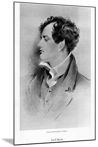 Lord Byron, Anglo-Scottish Poet, 19th Century-George Henry Harlow-Mounted Giclee Print