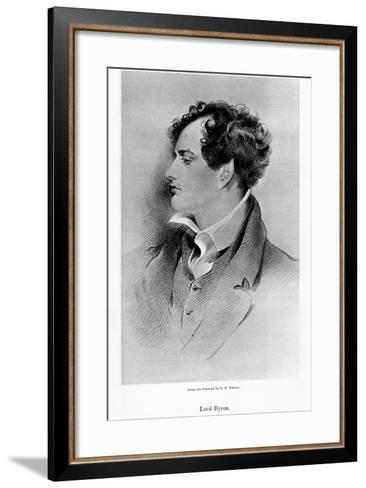 Lord Byron, Anglo-Scottish Poet, 19th Century-George Henry Harlow-Framed Art Print