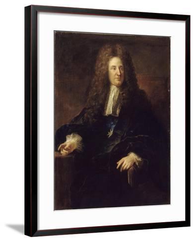 Portrait of Jules Hardouin-Mansart (1646-170)-François de Troy-Framed Art Print