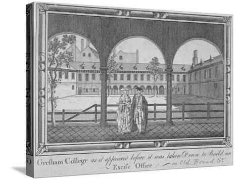 Gresham College, City of London, 1760--Stretched Canvas Print