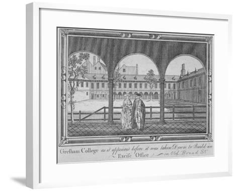 Gresham College, City of London, 1760--Framed Art Print