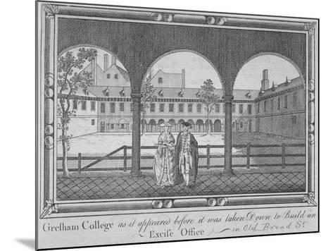 Gresham College, City of London, 1760--Mounted Giclee Print