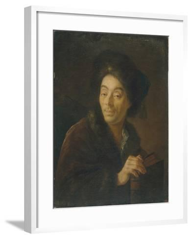 Portrait of the Actor Yakov Danilovich Shumsky (1732-181), 1760-Anton Pavlovich Losenko-Framed Art Print